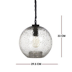 New Collection Casamotion Small Clear Sandy Art Decorative Glass Pendant Light