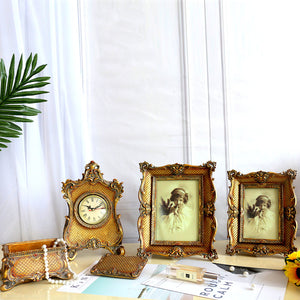 Vintage Golden Photo Frame Set