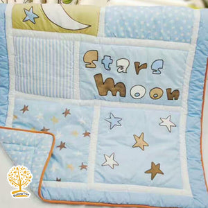 Galaxy Theme - 100% Cotton Baby Quilt / Babysheet