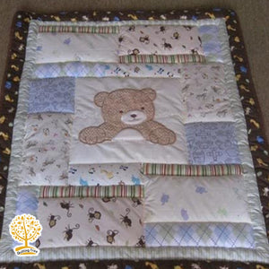 Teddy Theme - 100% Cotton Super Soft Baby Quilt / Babysheet