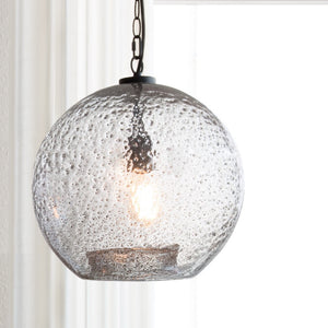Unique Design Casamotion Large Clear Sandy Glass Pendant Light for Decoration