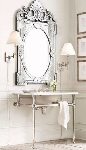 Venetian Mirror for Wash Basin