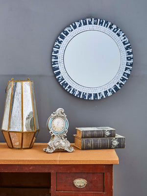 DECORATIVE ROUND FRAMED WALL MIRROR