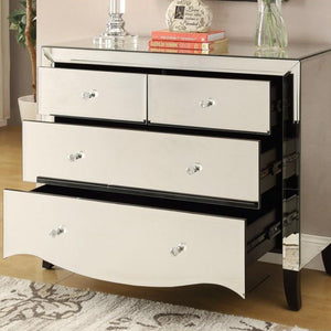 Mirrored Chest Of Drawer - 4 Drawer
