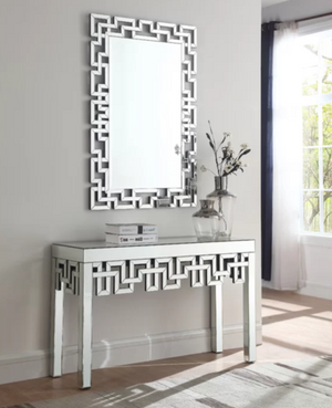 LUONG MIRRORED CONSOLE TABLE WITH MIRROR CWM-616