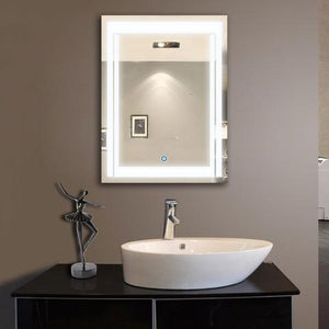 LED BATHROOM MIRROR WITH TOUCH BUTTON 48 X 36