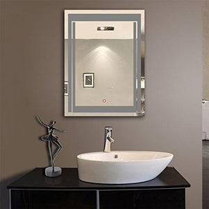LED BATHROOM MIRROR WITH TOUCH BUTTON