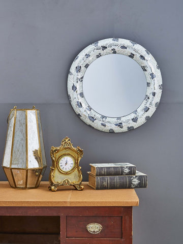 Silver and Black Crackle Wall Mirror