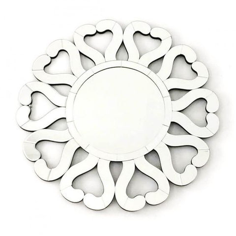 HEART SHAPE ROUND WALL MIRROR