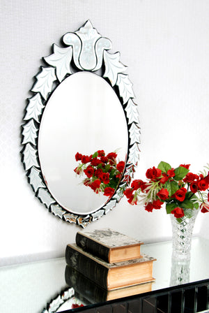 LEAF DESIGN VENETIAN WALL MIRROR