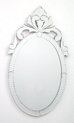 OVAL CROWN VENETIAN WALL MIRROR