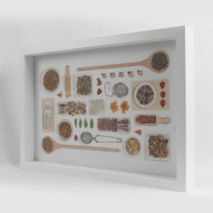 White Spices Themed Serving Tray