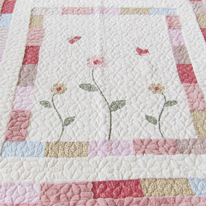 Pink and Cream Soft Rug