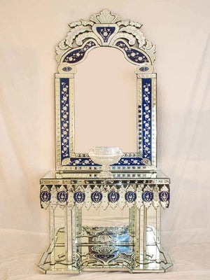 LEAF CONSOLE TABLE WITH MIRROR CWM-155
