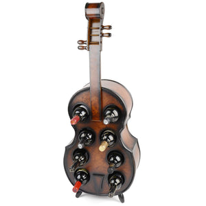 Wood Brown Violin Wine Rack