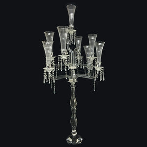 9 Arms Crystal Candle Holder