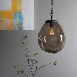 Design Edison Brown Hanging Glass Ceiling Lamp For House Decoration
