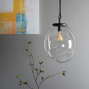 Small Design Edison Clear Hanging Glass Ceiling Lamp For House Decoration