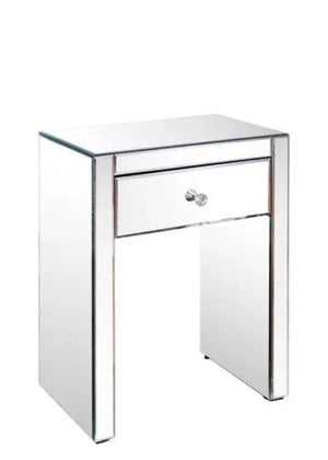 MIRRORED BED SIDE TABLE, 1 DRAWER VDHZ1021