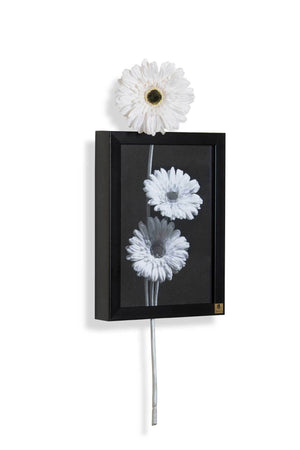 Gerbera White (Vertical) Wall Art | Collection Roha