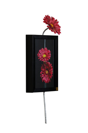 Gerbera Red (vertical) Wall Art | Collection Roha