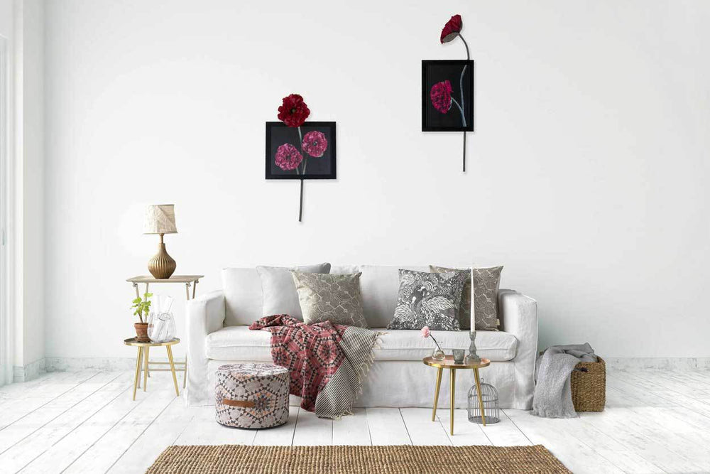 Poppy Horizontal Wall Art Collection Roha All Home Living Llp