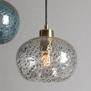 Living Room Smoke Grey Lamps, Hand Made Home Decoration Modern Vintage Pendant Light Lamps For Home