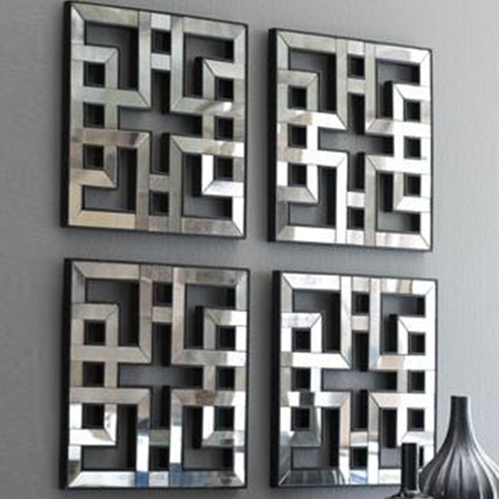 Mirror Panels Amazing Mirrored Panels Set Of 4 For Wall Art All