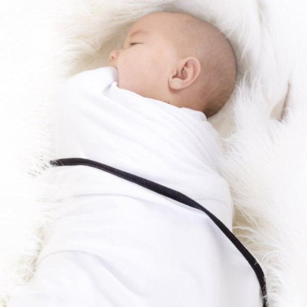 3 PACK Multiway Swaddles - WHITE W BLACK