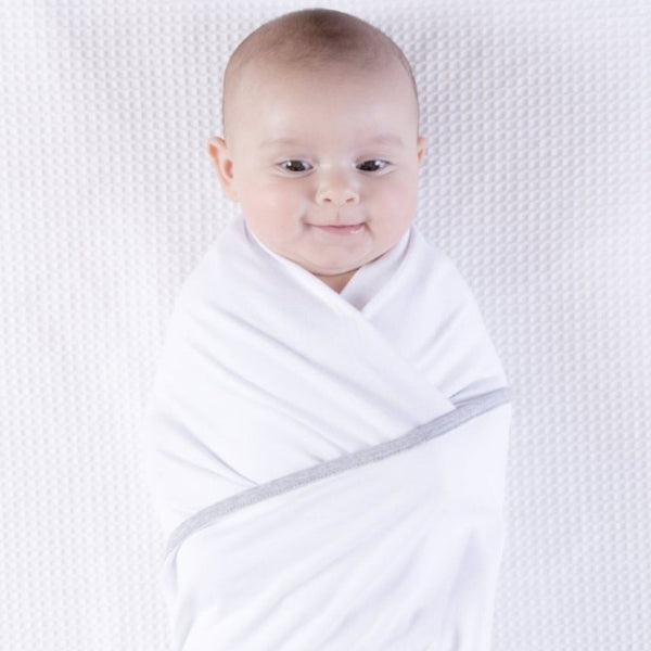 Multiway Swaddle - WHITE W GREY