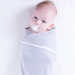 Multiway Swaddle - GREY W WHITE