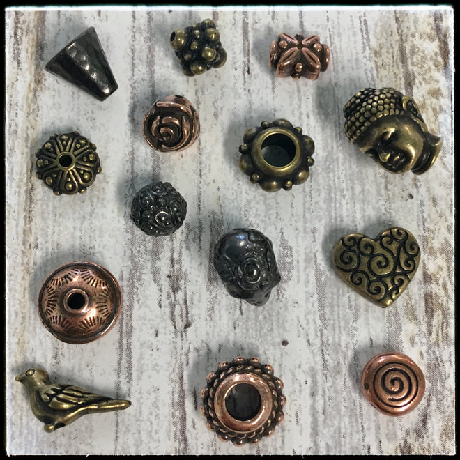 Metal Beads & Caps - Copper, Brass & Black Finish