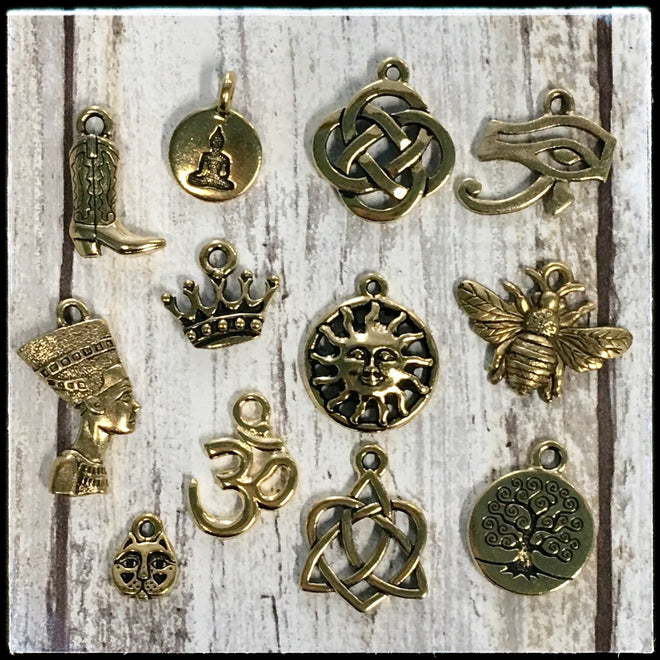Metal Charms - Gold Finish