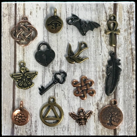 Metal Charms - Copper, Brass & Black Finish