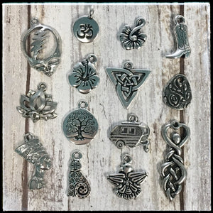 Metal Charms - Silver, Rhodium & Pewter Finish