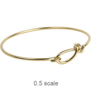 Wire Bangle Bracelet with Hook Opening 12 gauge Wire - Qty 1 - TierraCast Bright Brass LEAD FREE