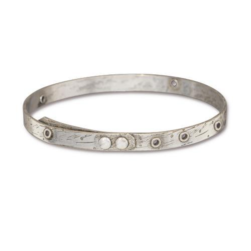 Bangle Bracelet with Eyelet Openings in 20 gauge - Qty 1 - TierraCast Tin Ox Plated LEAD FREE Brass