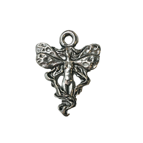 Fairy Princess Charms - Qty of 5 Charms - Lead Free Pewter Silver - American Made