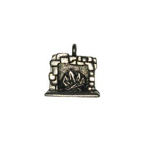 Fire Place Charms - Qty 5 - Lead Free Pewter Silver - American Made