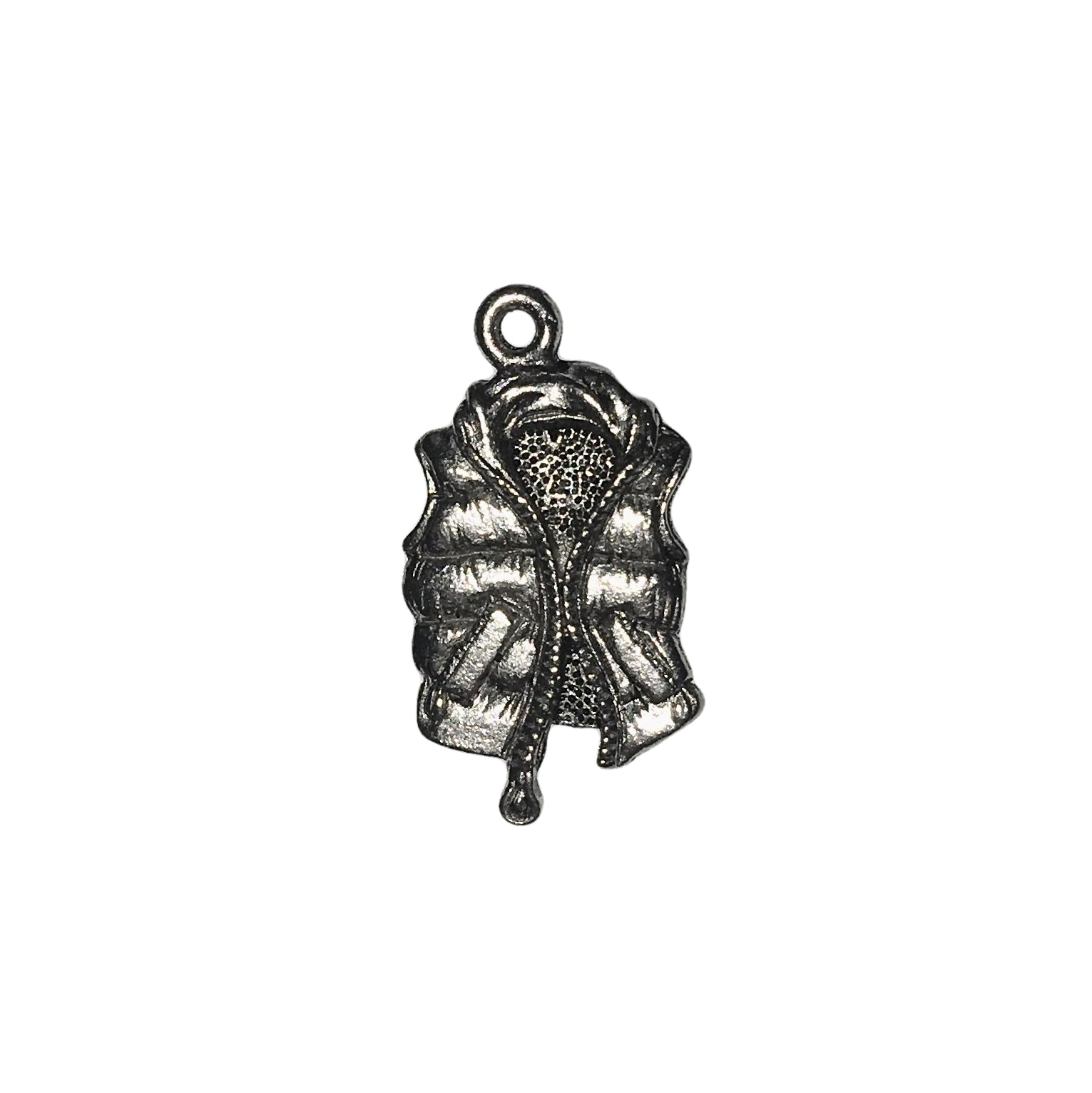 Down Vest Charms - Qty 5 - Lead Free Pewter Silver - American Made