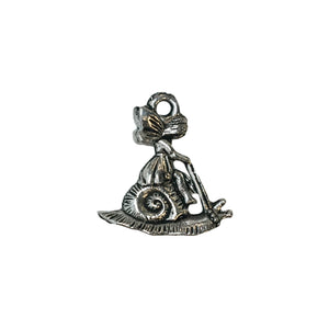 Fairy Snail Charms - Qty of 5 Charms - Lead Free Pewter Silver - American Made