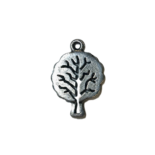 Tree of Life Charms - Qty 5 - Lead Free Pewter Silver - American Made