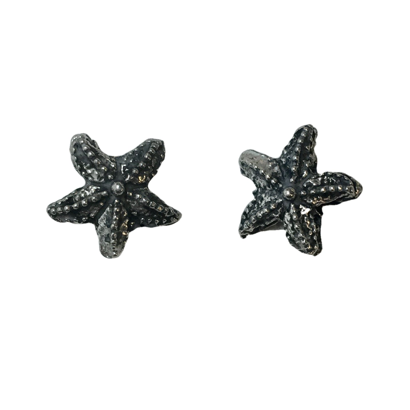 Starfish Beads - Qty 5 - Lead Free Pewter Silver - American Made
