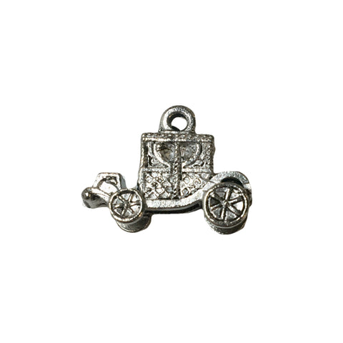 Carriage Charms - Qty of 5 Charms - Lead Free Pewter Silver - American Made