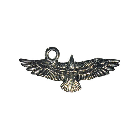 Flying Eagle Charms - Qty 5 - Lead Free Pewter Silver - American Made