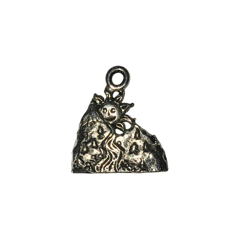 Sun Mountain Charms - Qty 5 - Lead Free Pewter Silver - American Made