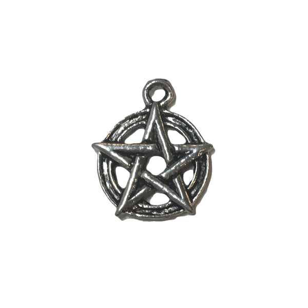 Small Pentagram Charms - Qty of 5 Charms - Lead Free Pewter Silver - American Made