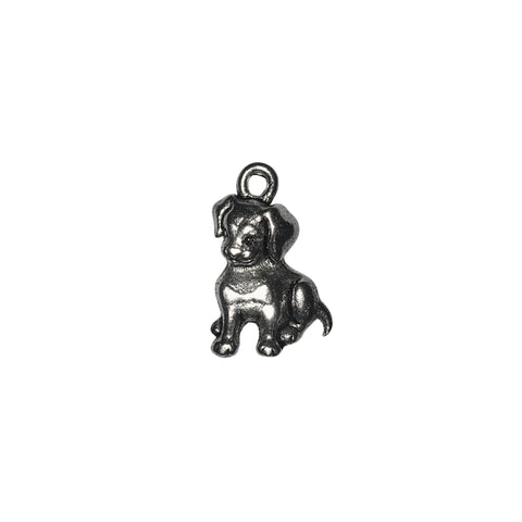 Puppy Charms - Qty 5 - Lead Free Pewter Silver - American Made