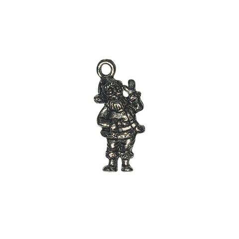 Santa Claus Charms - Qty 5 - Lead Free Pewter Silver - American Made