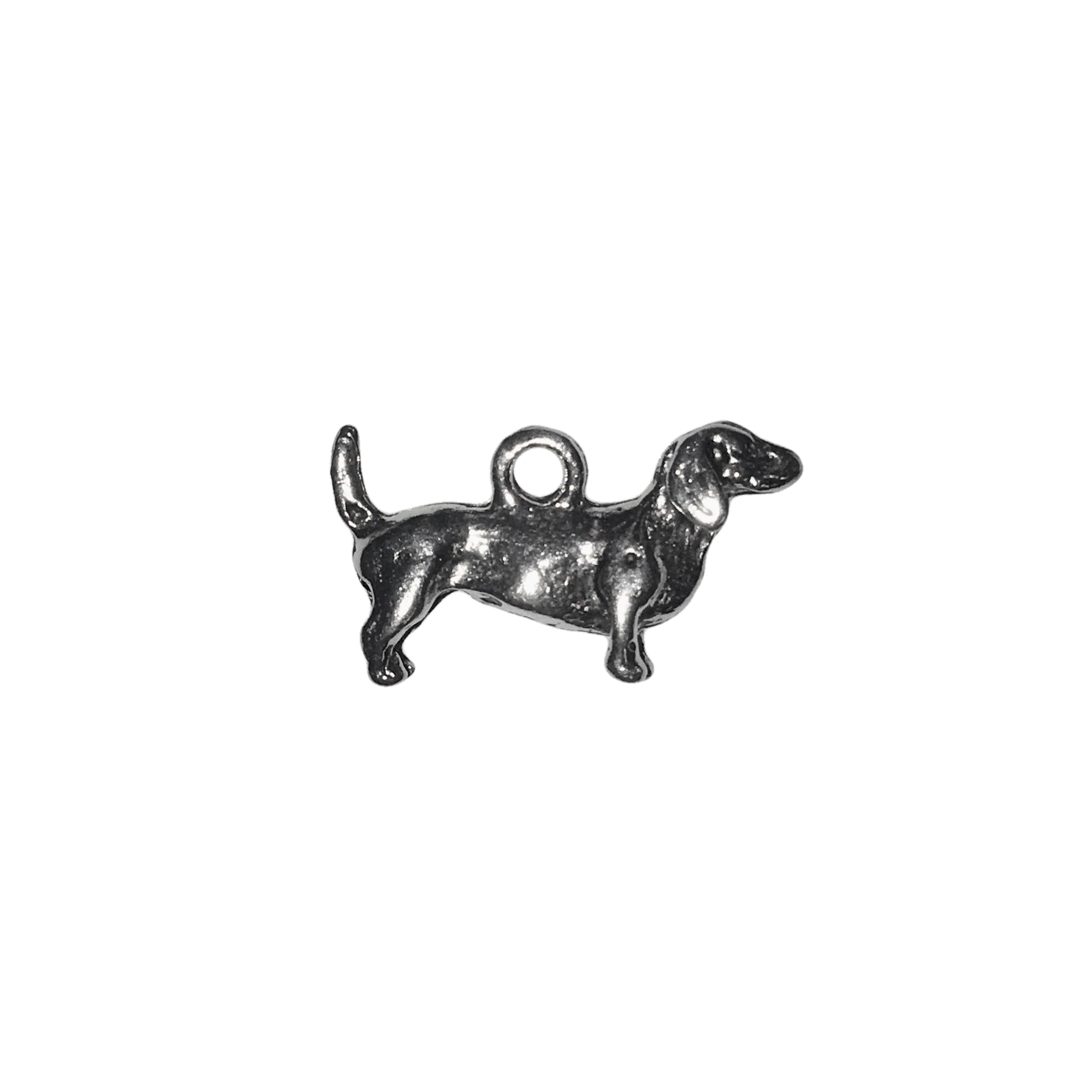 Daschund Charms - Qty 5 - Lead Free Pewter Silver - American Made